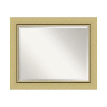 "Amanti Art Landon Gold-tone Framed Bathroom Vanity Wall Mirror, 34.38"" x 28.38"""