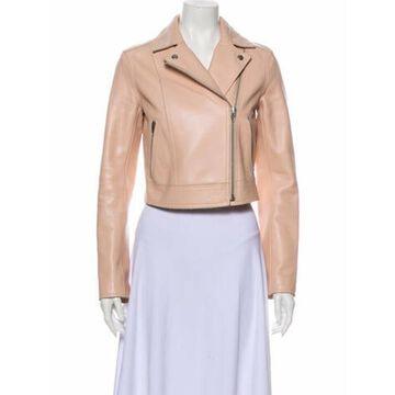Leather Biker Jacket Pink