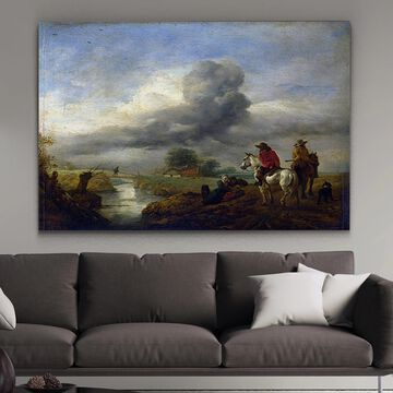Wexford Home 'Two Vedettes on the Watch by a Stream' Canvas Wall Art