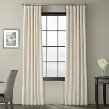 Exclusive Fabrics Signature Blackout Velvet Curtain (50 x 120 - neutral ground)