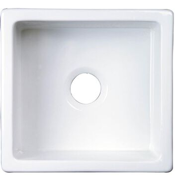 Barclay Undermount 17.5-in x 18.37-in White Single Bowl Kitchen Sink
