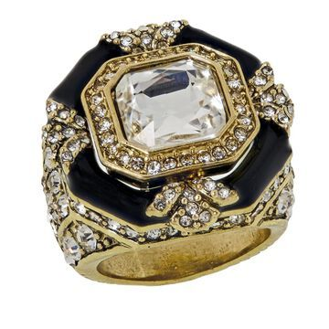 Heidi Daus Day and Night Crystal and Enamel Ring