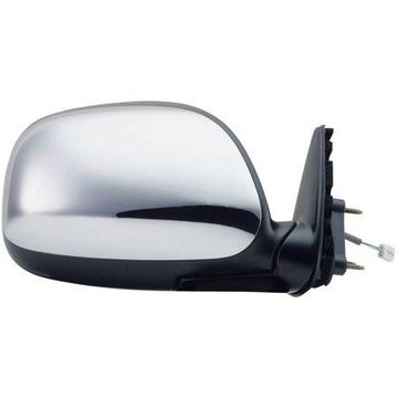 70059T - Fit System Passenger Side Mirror for 00-04 Toyota Tundra Pick-Up, black/ chrome, foldaway, Power