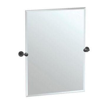 Gatco Latitude II 31.5-Inch x 27.5-Inch Rectangular Frameless Mirror in Matte Black