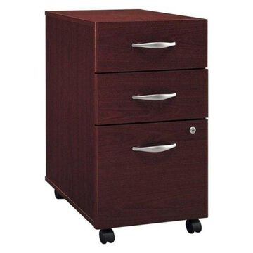 Bowery Hill 3-Drawer Mobile Pedestal, Mahogany