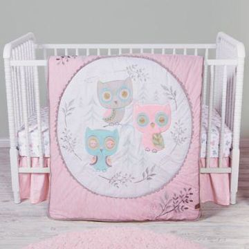 Trend Lab 3-Piece Feathered Friends Crib Bedding Set