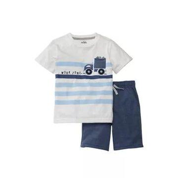 Kids Headquarters Boys' Boys 4-7 2 Piece Graphic Shirt And Shorts Set - -