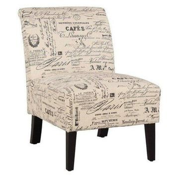 Pemberly Row Slipper Chair, Script