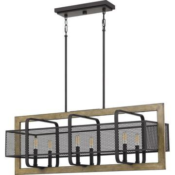 Quoizel Residence Western Bronze Transitional Kitchen Island Light