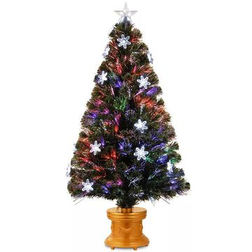 National Tree Company 48-in. Fiber Optic Fireworks Snowflake Artificial Christmas Tree, Green