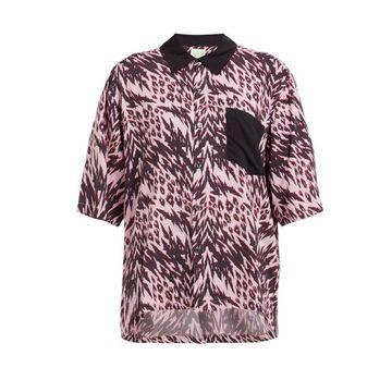 Aries - Animal Print Bowling Shirt - Womens - Pink Multi