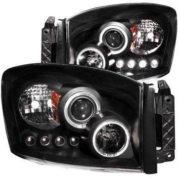 ANZO USA 111209 06-09 RAM PROJECTOR W/HALO BLACK CLEAR W/AMBER HEADLIGHTS (SET)