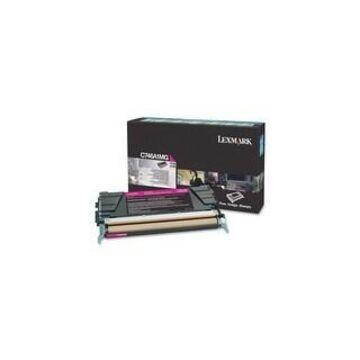 Lexmark C746A1MG Lexmark C746, C748 Magenta Return Program Toner Cartridge - Magenta - Laser - 7000 Page - 1 Each