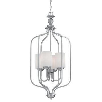 Millennium Lighting 3064 Lansing 4 Light Full Sized Pendant Brushed Pewter Indoor Lighting Pendants