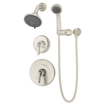 Symmons Elm Satin Nickel 2-Handle Shower Faucet (Valve Not Included) | 5505-STN-1.5-TRM