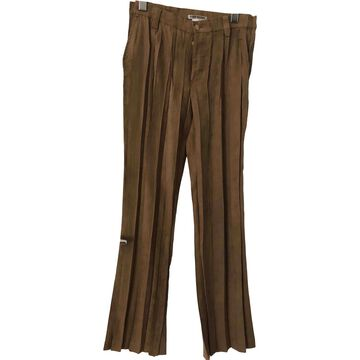 Issey Miyake \N Camel Polyester Trousers