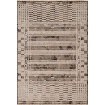 KAS Rugs Karina 4 x 6 Natural Indoor Geometric Industrial Area Rug Polyester in Off-White   KAR8257311X55