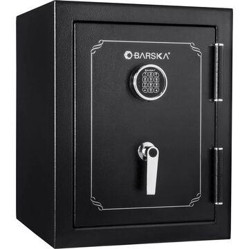 Barska 8.72-cu ft Keyed Commercial/Residential Floor Safe in Black | AX13102