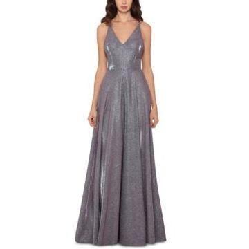 Xscape Metallic Glitter Gown