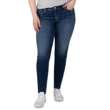 Silver Jeans Co. Plus Size Elyse Mid-Rise Skinny Jeans, Regular & Long Lengths