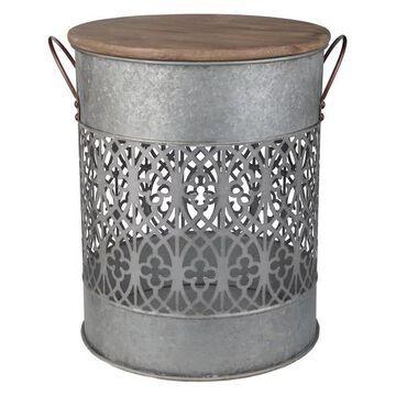 Lilou Metal Barrel, 17x15x18