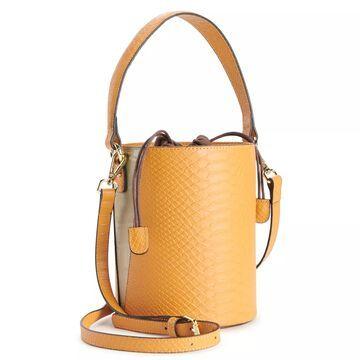 AmeriLeather Brenna Cylinder Handbag