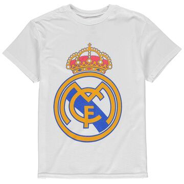 Real Madrid Youth Core Crest T-Shirt - White