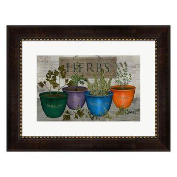 Metaverse Art Potted Herbs Framed Wall Art