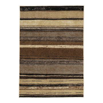 Mohawk Home Rainbow Striped Rug, Brown, 30X46