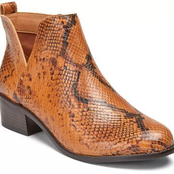 Vionic Leather Ankle Boots- Clara Boa Snake
