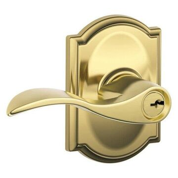 Schlage F51-ACC-CAM Accent Single Cylinder Keyed Entry Door Lever Set with Deco