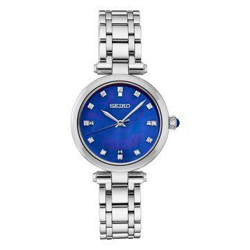 Seiko Women's Diamond Accent Stainless Steel Watch