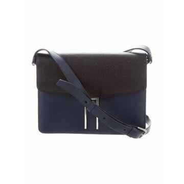 Leather Crossbody Bag Blue