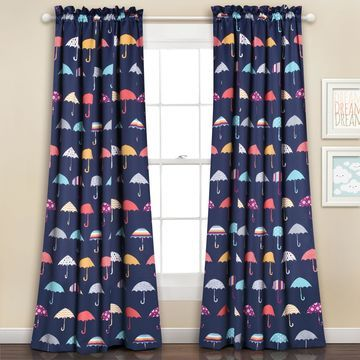 Lush Decor Umbrella Curtain Panel