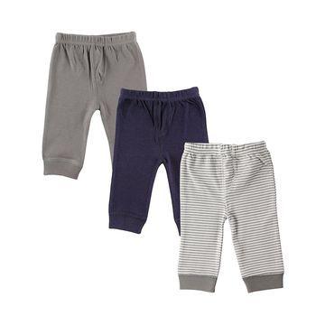 Luvable Friends Boys' Casual Pants Blue - Navy & Blue Sweatpants Set - Infant & Toddler