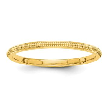 14K Yellow Gold Polished 1.5mm Milgrain Wedding Band by Versil (4)