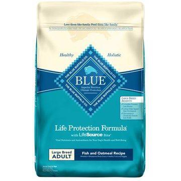 Blue Buffalo Fish and Oatmeal Large Breed Dry Dog Food, 30-lb