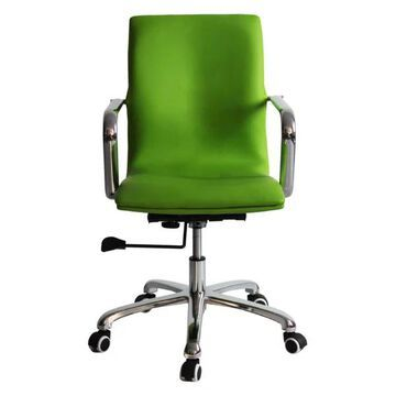 Fine Mod Imports Confreto Conference Office Chair Mid Back, Green