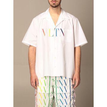Valentino cotton shirt with multicolor VLTN print