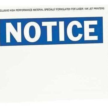 BRADY 12914 Sign & Label Blanks,Blue/Wht,Plystr,PK25