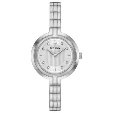 Bulova Women's Rhapsody Diamond Accent Stainless Steel Watch - 96P214
