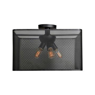Access Lighting 50921LEDDLP Epic Semi-Flush Ceiling Fixture, Black