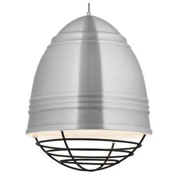 Loft Grande Brush Aluminum Pendant, E26 LED A19 11W 2700K 120V, Black