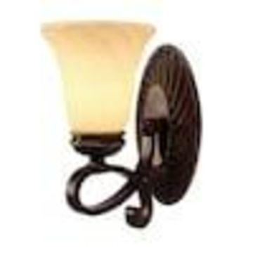 Golden Lighting Torbellino 1-Light Bronze Transitional Vanity Light