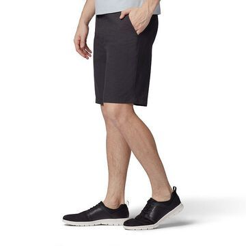 Men's Lee Air Flow Flat Front Shorts, Size: 32, Grey