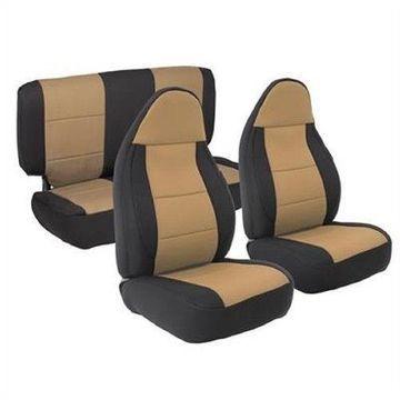 Smittybilt 471325 Seat Covers Tan Neoprene For 2003-2006 Jeep JK Wrangler
