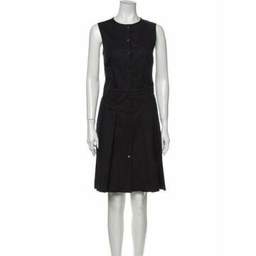 Crew Neck Knee-Length Dress Navy