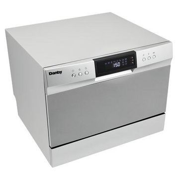 Danby 6 Place Setting Countertop Dishwasher in Silver