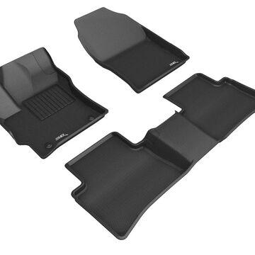 G03101509 Kagu 2 Row Floor Mat Set for 2018 Kia Niro LX Sport Utility 4-Door, Black