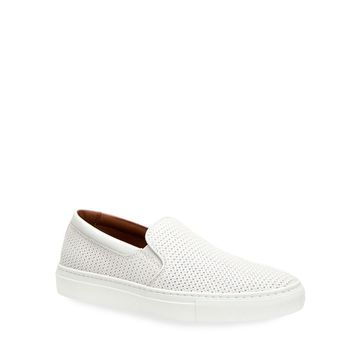 Woven Leather Slip-On Sneakers